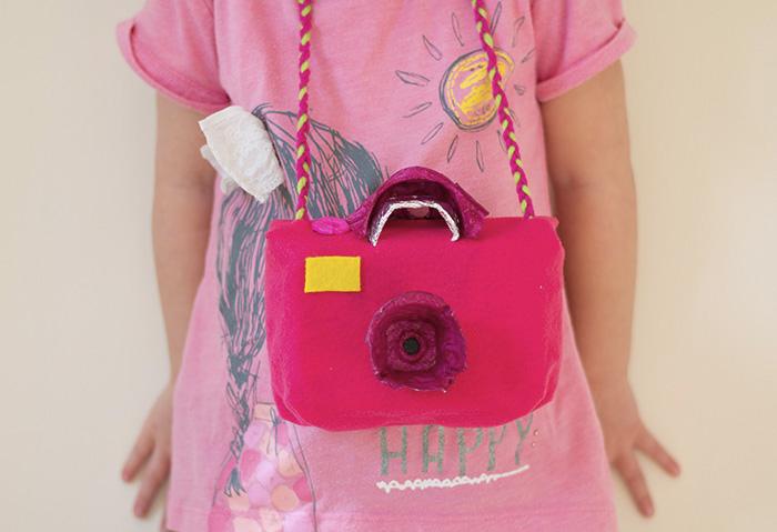 pink diy toy camera