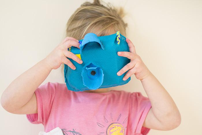 blue toy camera