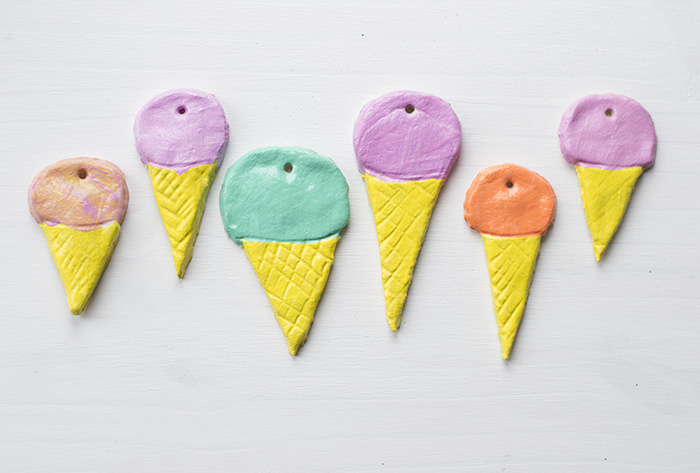 Salt Dough Ice Creams