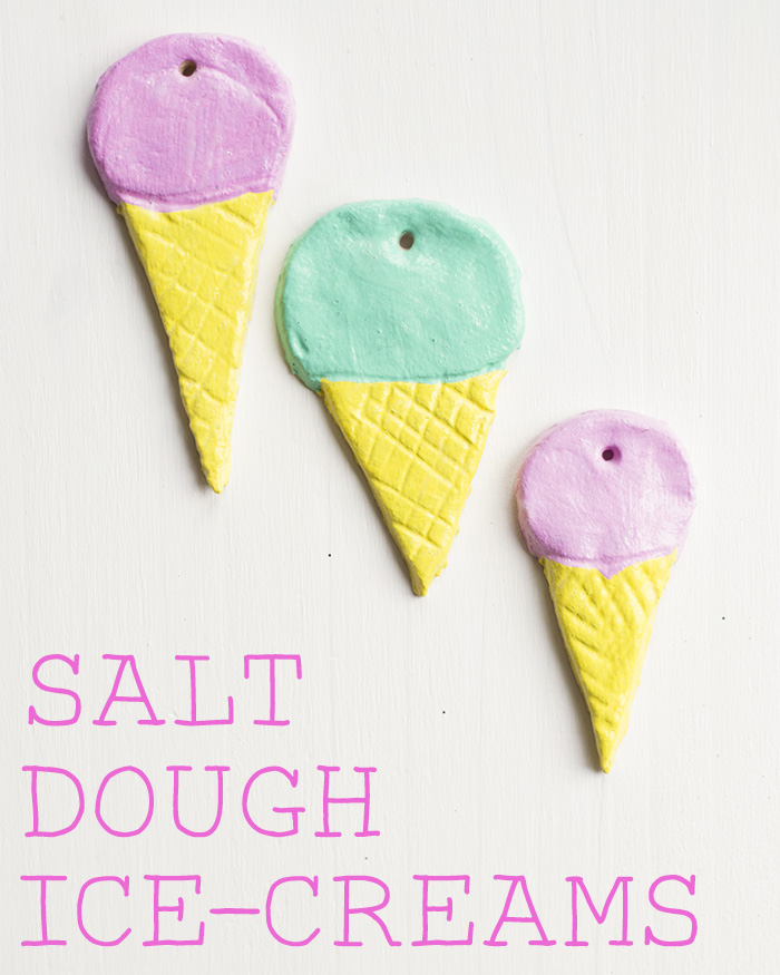 how to make slat dough ice-creams