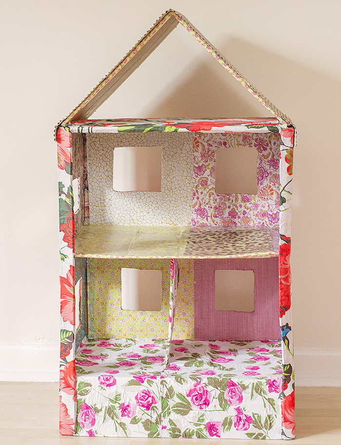 How to make a dolls house out of a cardboard box dolls house ccuart Choice Image