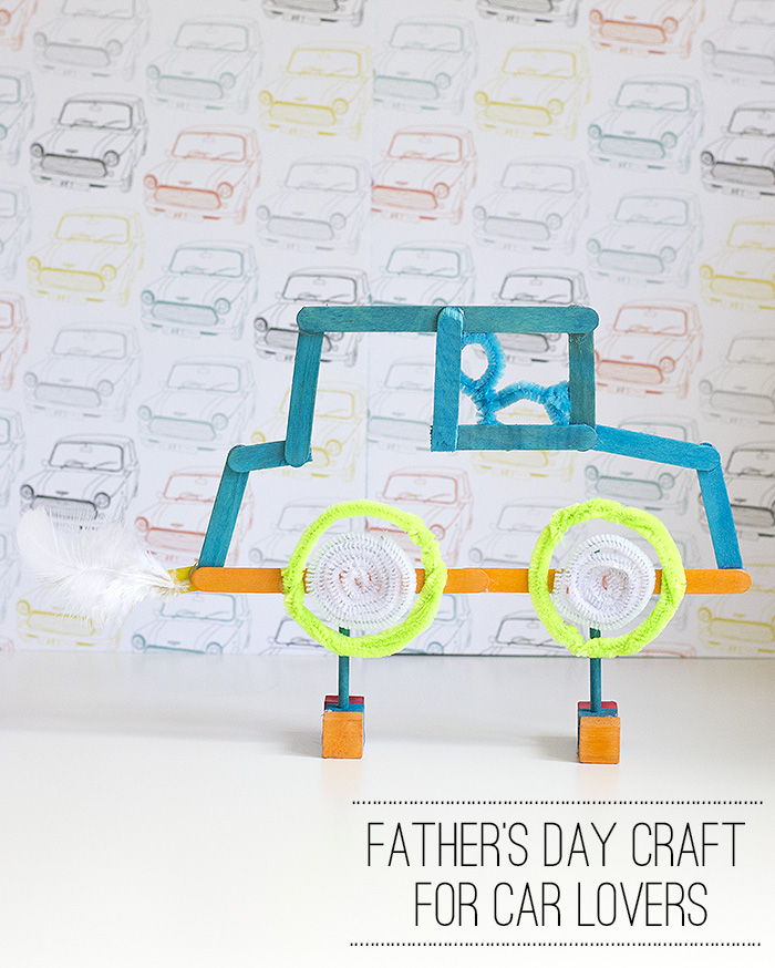 Fathers day gift ideas how to make a ice lolly stick car for Gift ideas for craft lovers