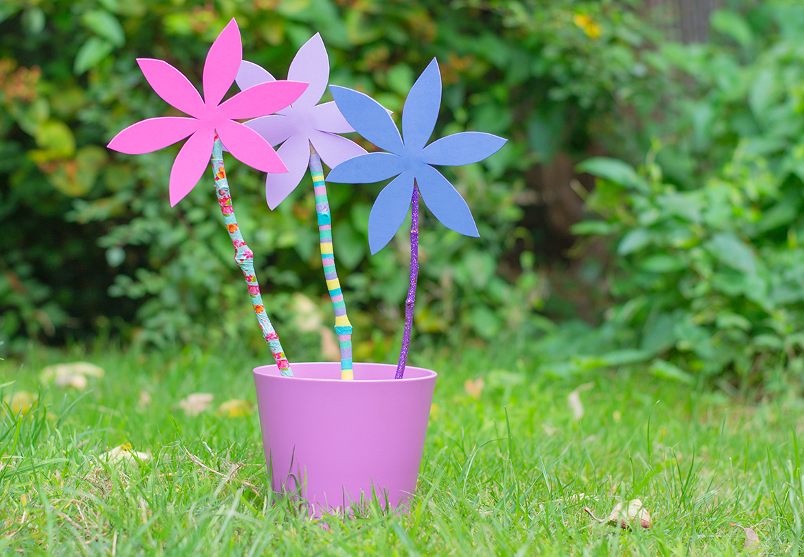 How To Make Foam Flowers With Sticks