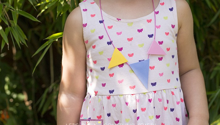 foam triangle necklaces