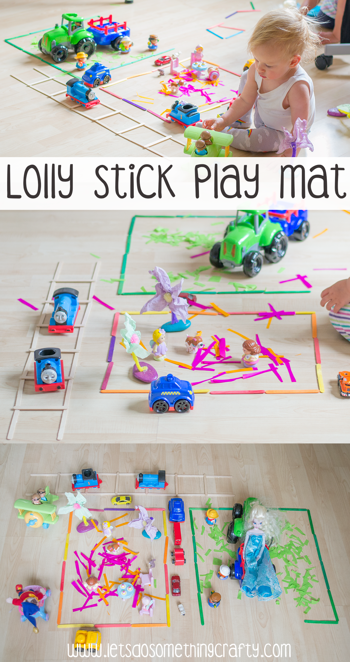rainy day activities lolly stick play mat