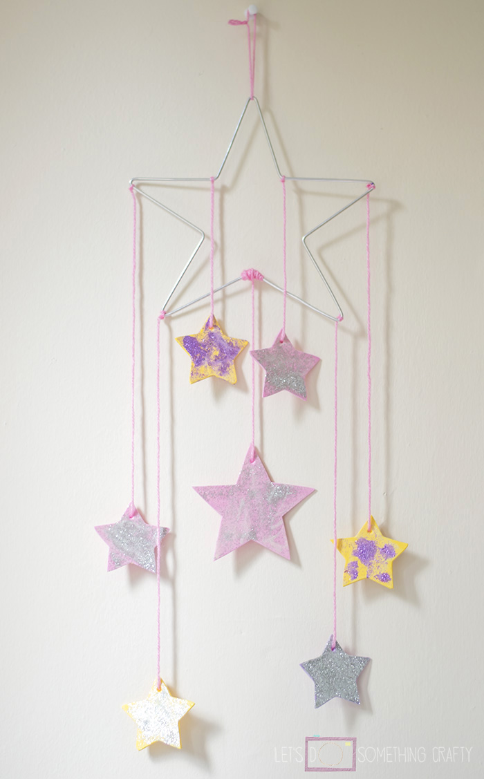DIY Star Mobile with Glow in the Dark Paint