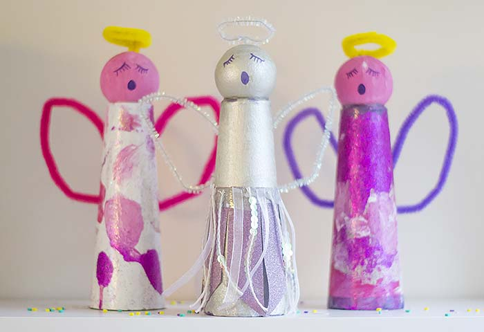 Christmas Crafts: Make Your Own Christmas Angels - Let's Do ...