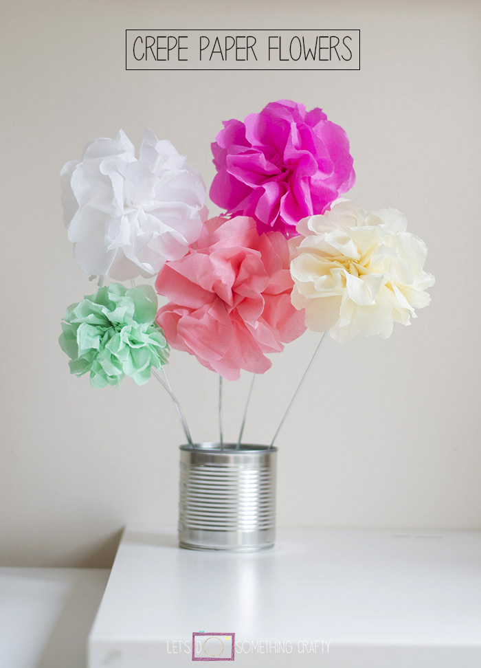 How to make tissue paper flowers for Crepe paper wall flowers