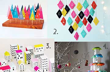 TOP TEN DIY COLOURFUL ADVENT CALENDARS featured