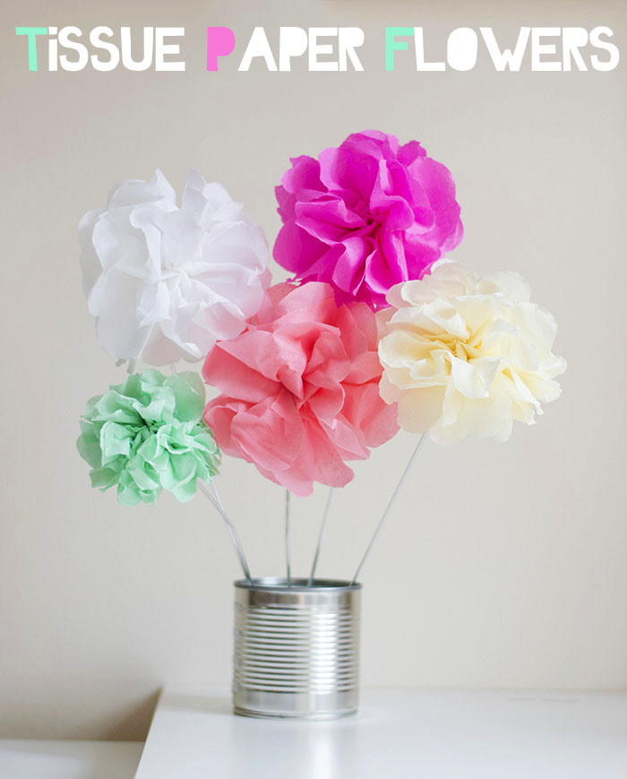 tissue paper flowers pinterest