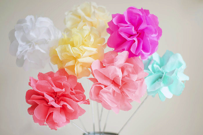 How to make crepe paper flowers mightylinksfo