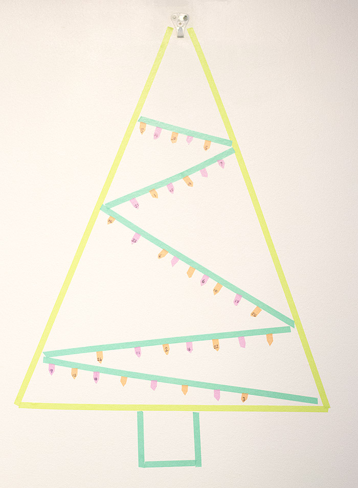 washi tape advent calendar 2