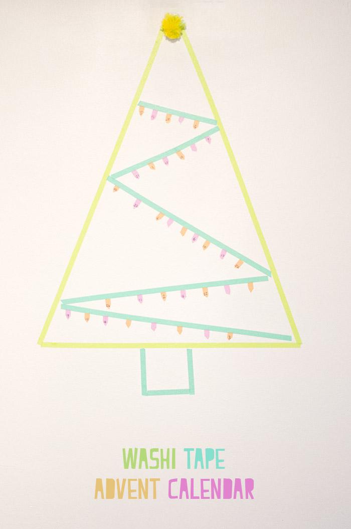 washi tape advent calendar pinterest