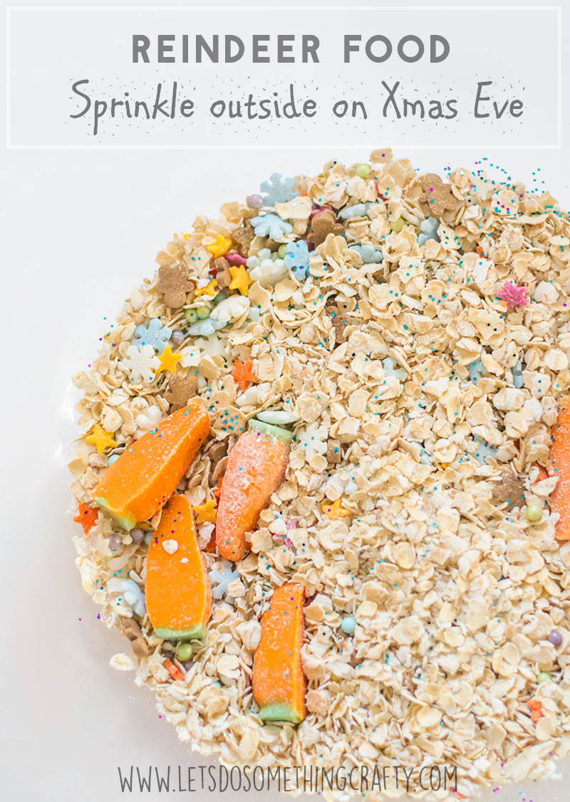 reindeer food - perfect kids Christmas activity