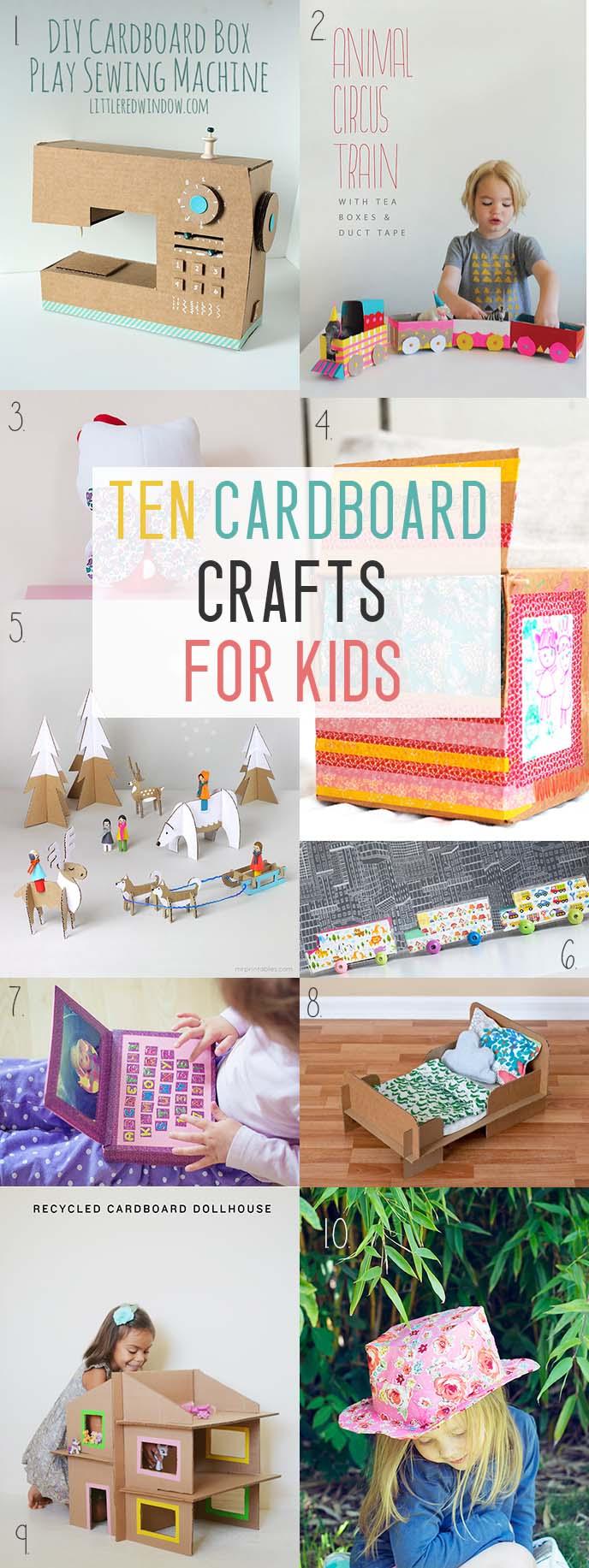 10 cardboard crafts for kids