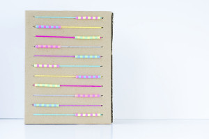 cheap, easy, upcycled diy abacus