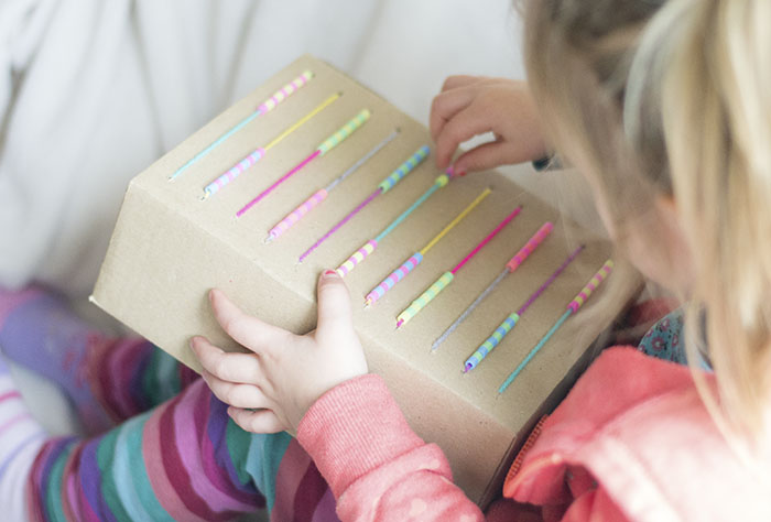 playing with diy abacus