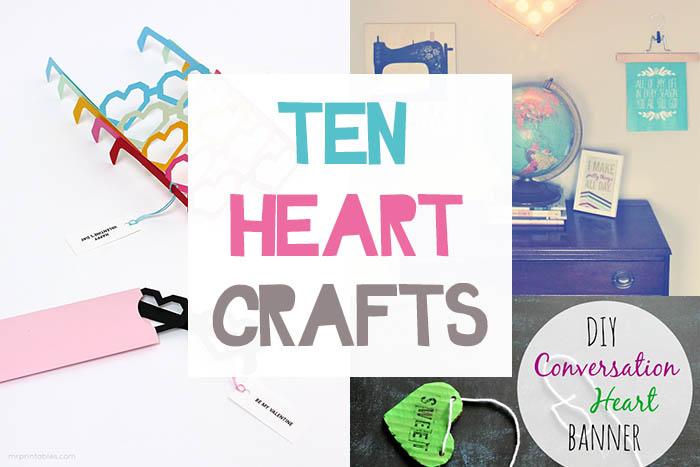 ten heart crafts small