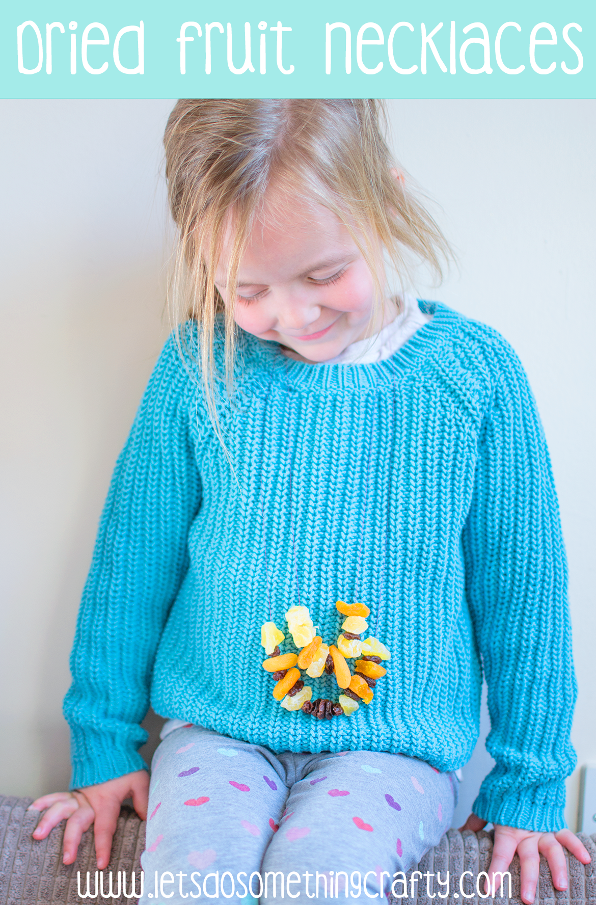 dried fruit necklaces healthy alternative to candy necklace