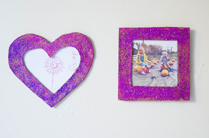 cardboard diy photo frame