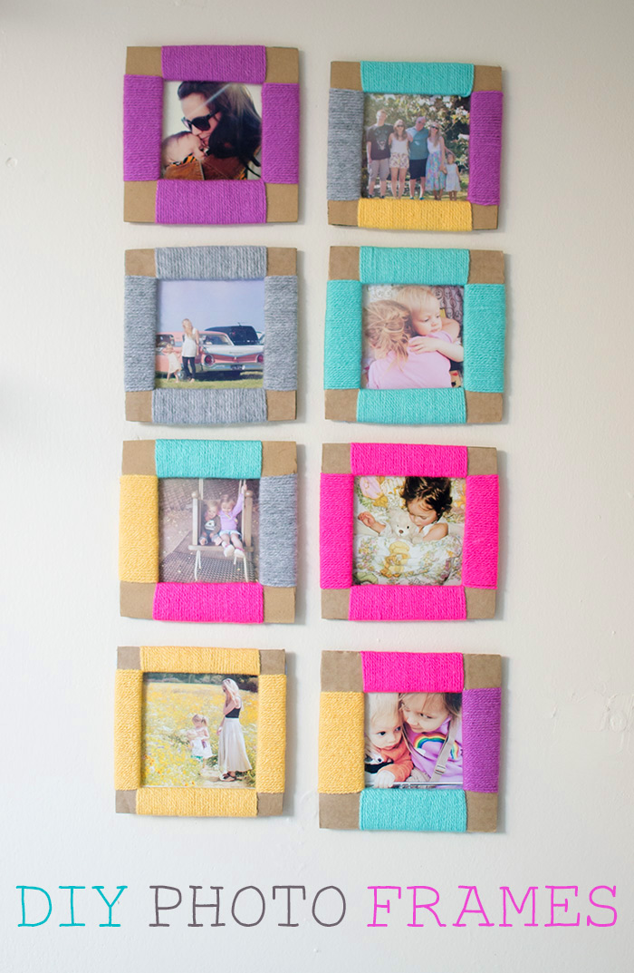 How to make a cardboard diy photo frame for Picture frame with clips diy