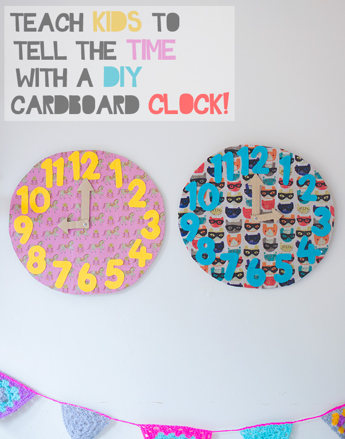 tell the time with a diy clock