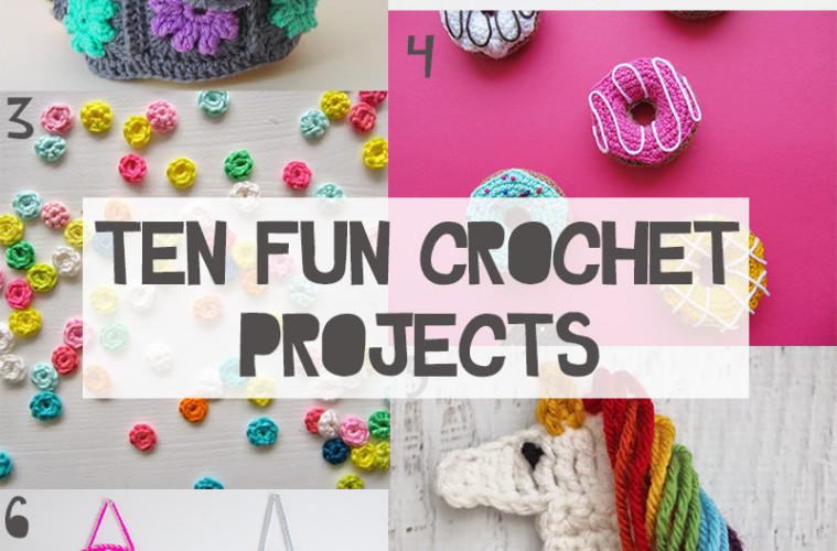 fun crochet projects Today i have gathered up an eclectic collection of fun, fast and free crochet  patterns for you to make on the next rainy day you are stuck inside.