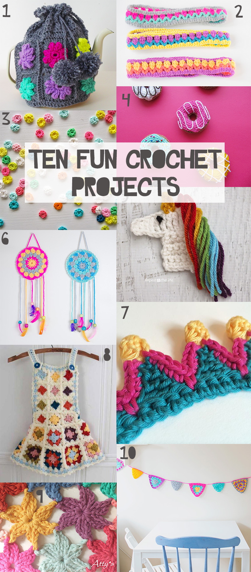 10 super fun crochet projects