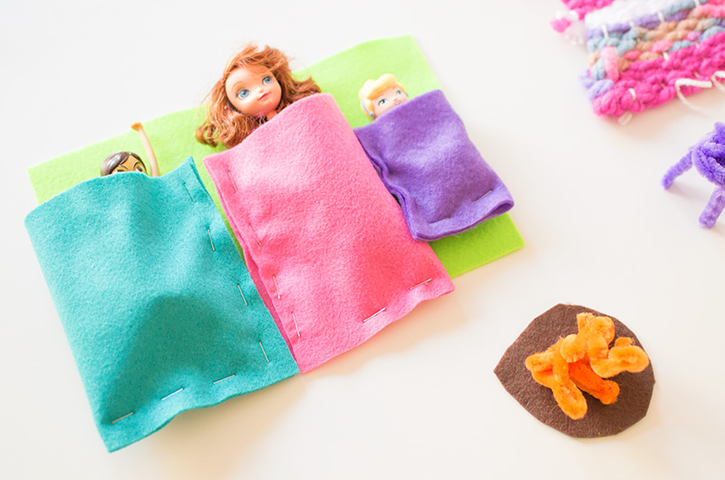 felt sleeping bags for play