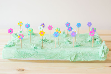 how to make foam flowers