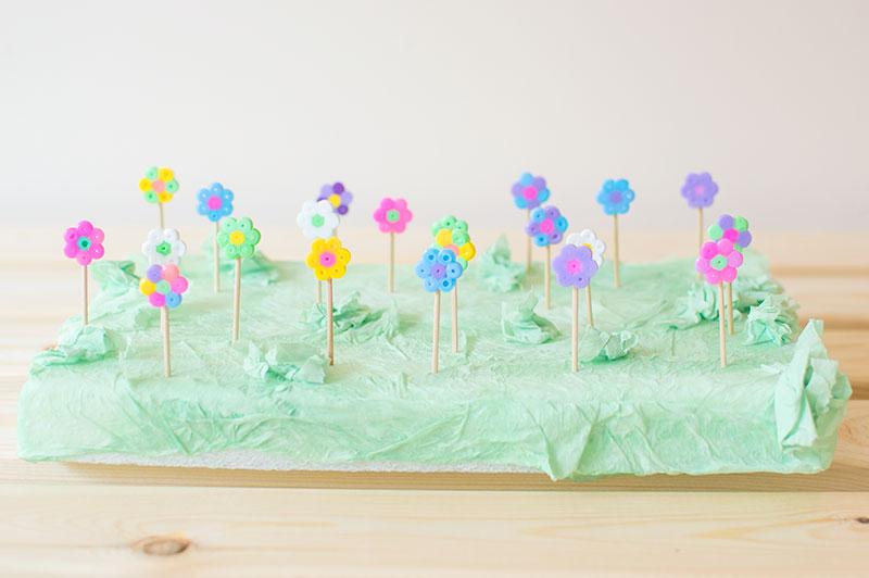 hama-bead-flower-garden