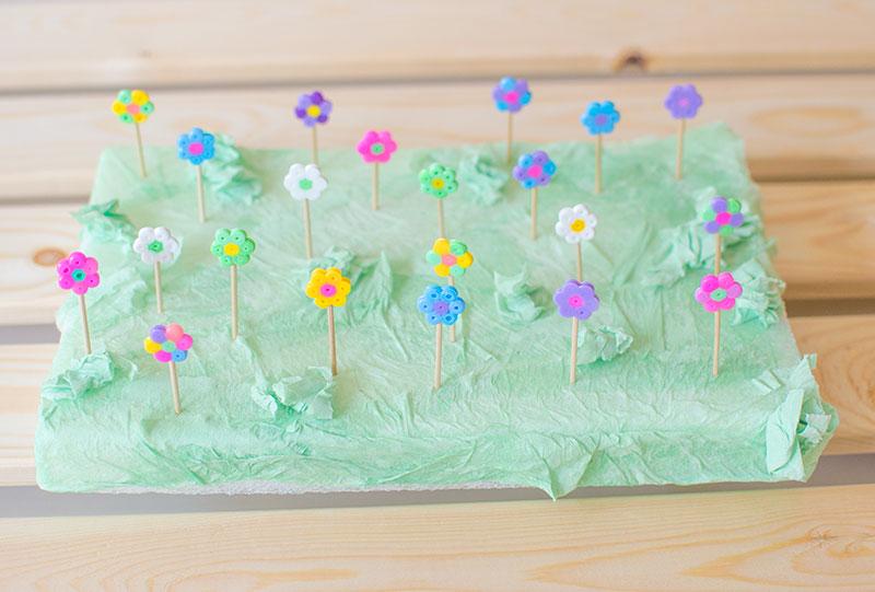 hama-bead-flowers-in-garden