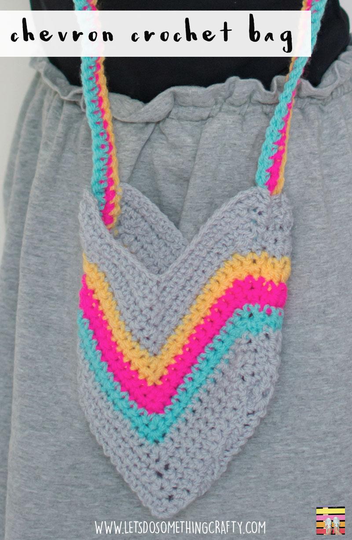 How To Make A Crochet Bag : How To Make A Chevron Crochet Bag