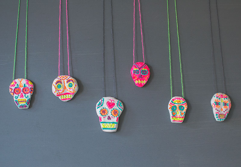 air-dry-clay-sugar-skull-bead-necklace