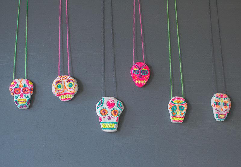 air-dry-clay-sugar-skull-bead-necklace