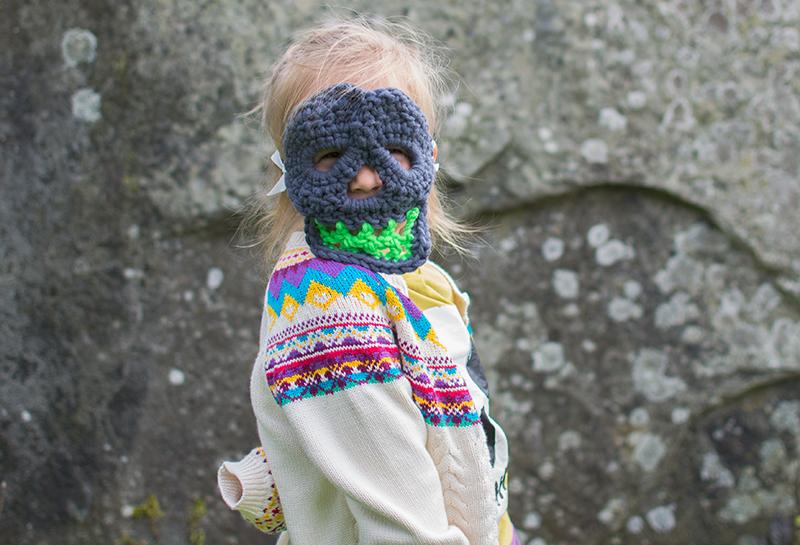 scariest halloween mask crochet