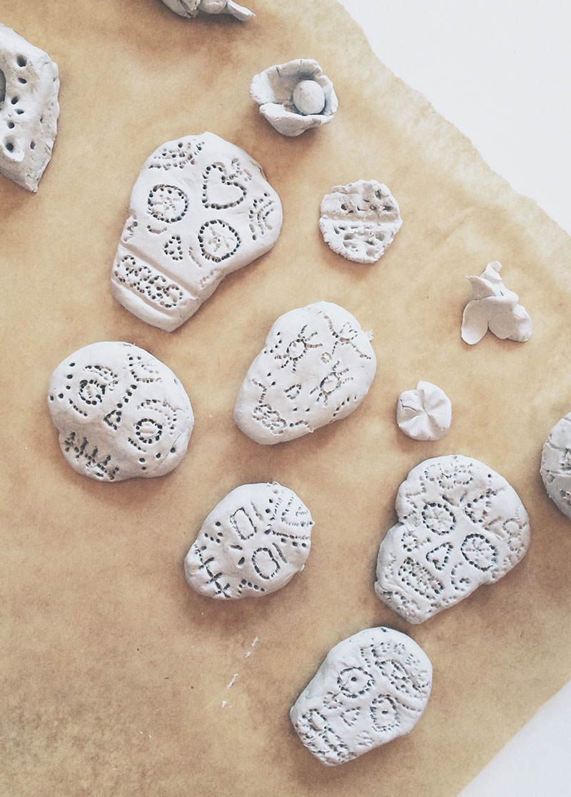 Day Of The Dead Air Drying Clay