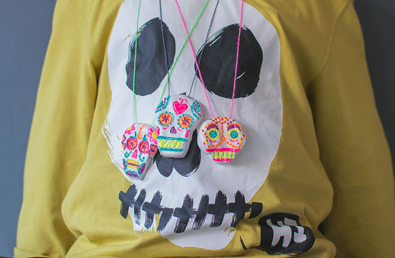 diy-sugar-skull-necklaces