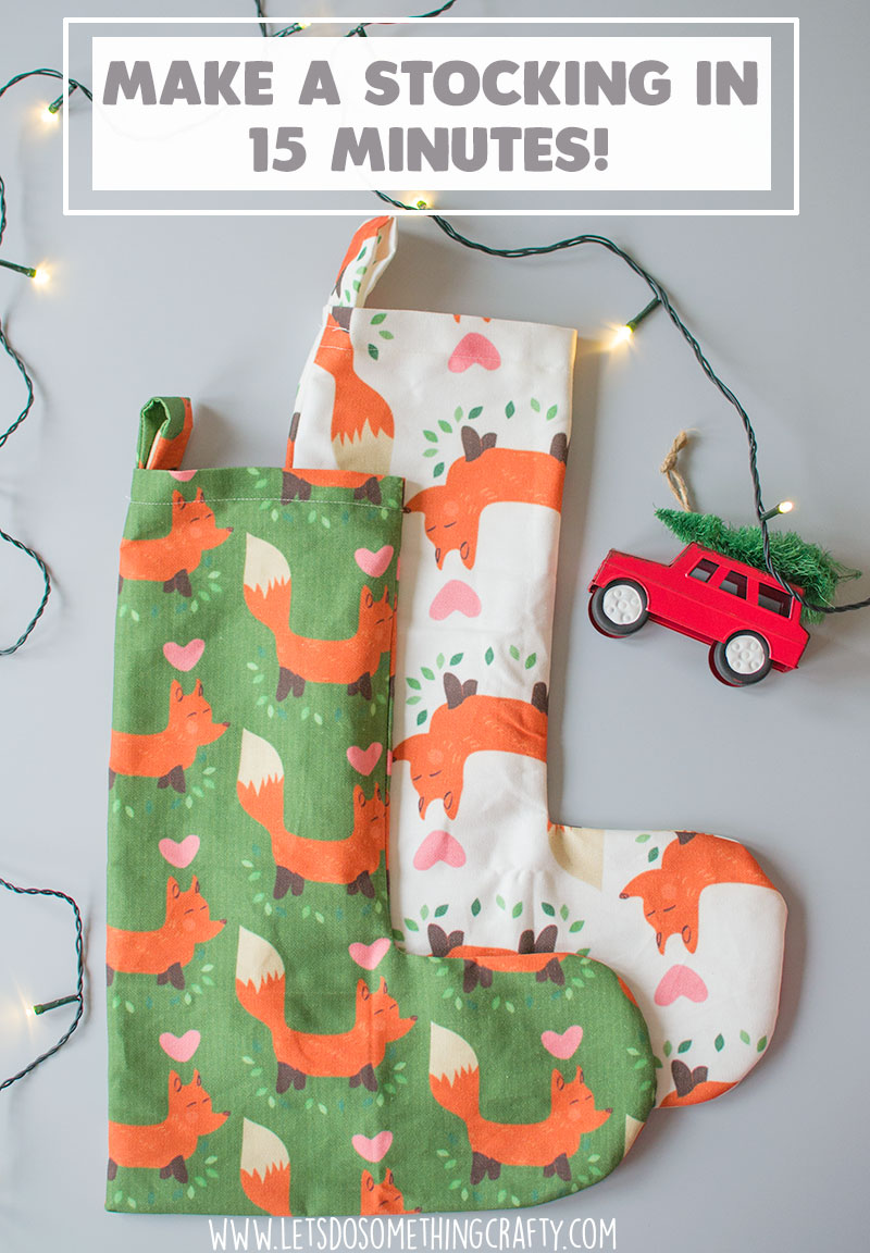 make a christmas stocking in 15 minutes
