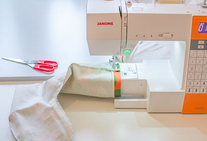 sewing-a-stocking-janome-sewing-machine