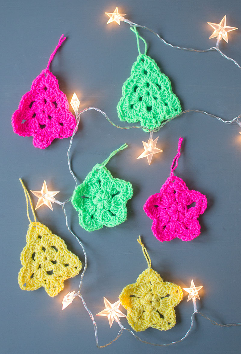 Crochet Christmas Tree And Star Ornaments Let S Do Something Crafty