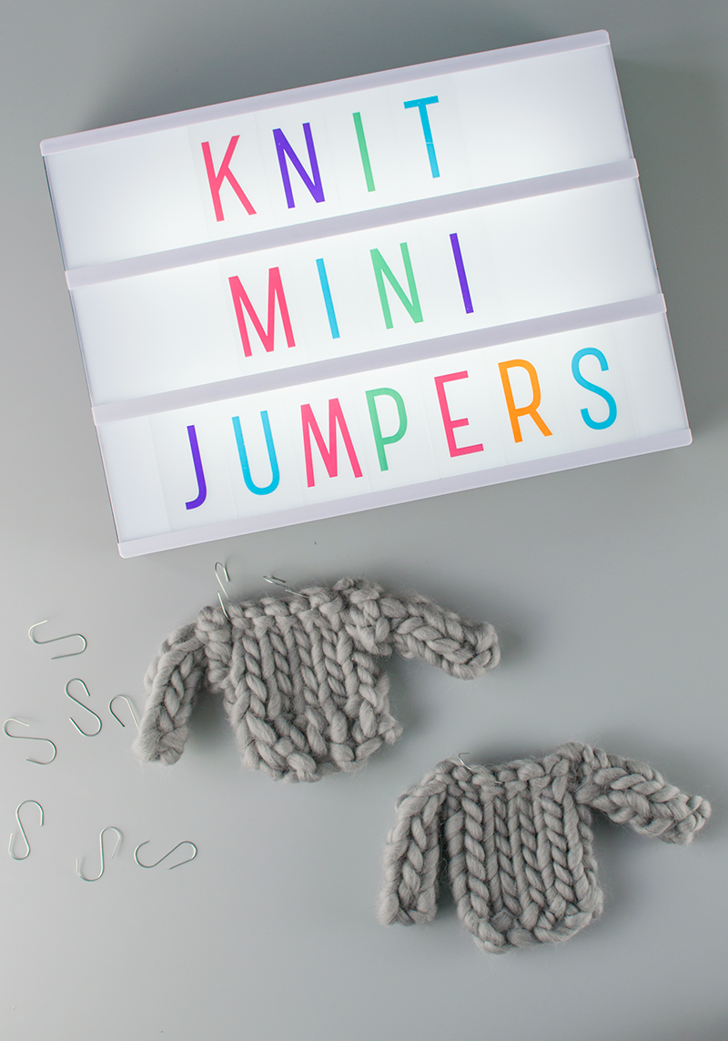 how to make mini knitted jumpers