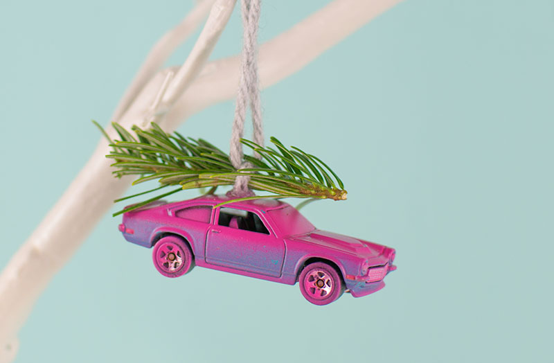 pink-toy-car-spray-painted-christmas-ornament