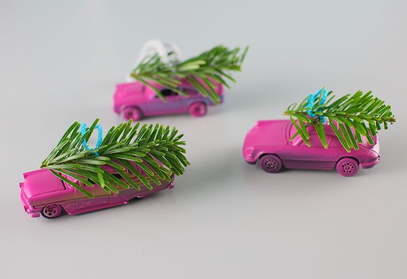 toy-car-christmas-ornaments-mini-trees-on-top