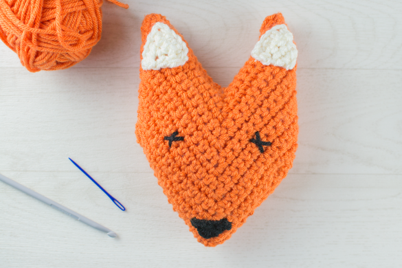 Crocheted-foxes-head