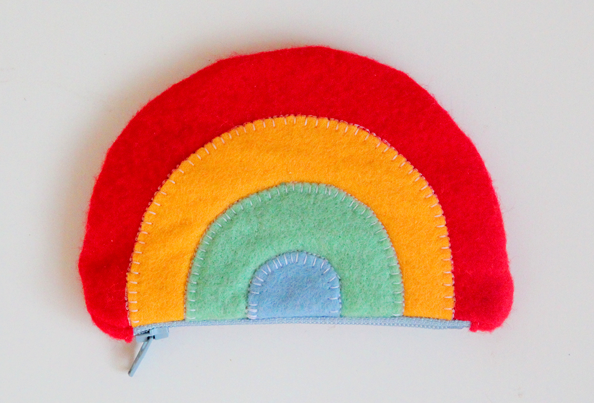 rainbow purse for kids