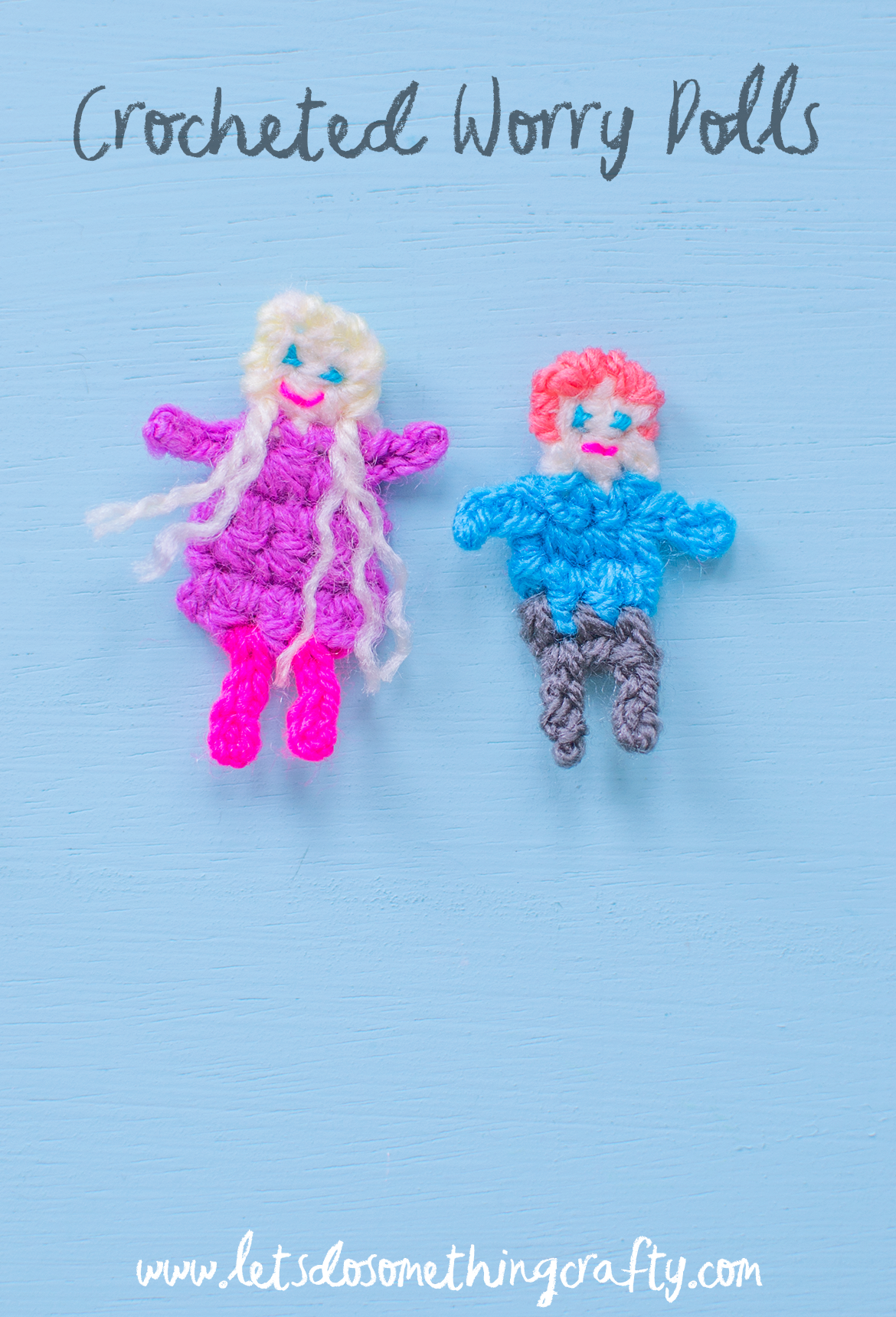 crocheted worry dolls
