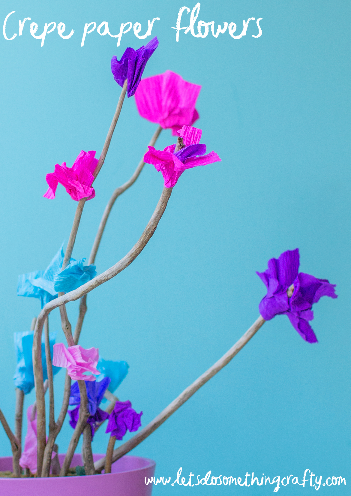 handmade flowers using sticks