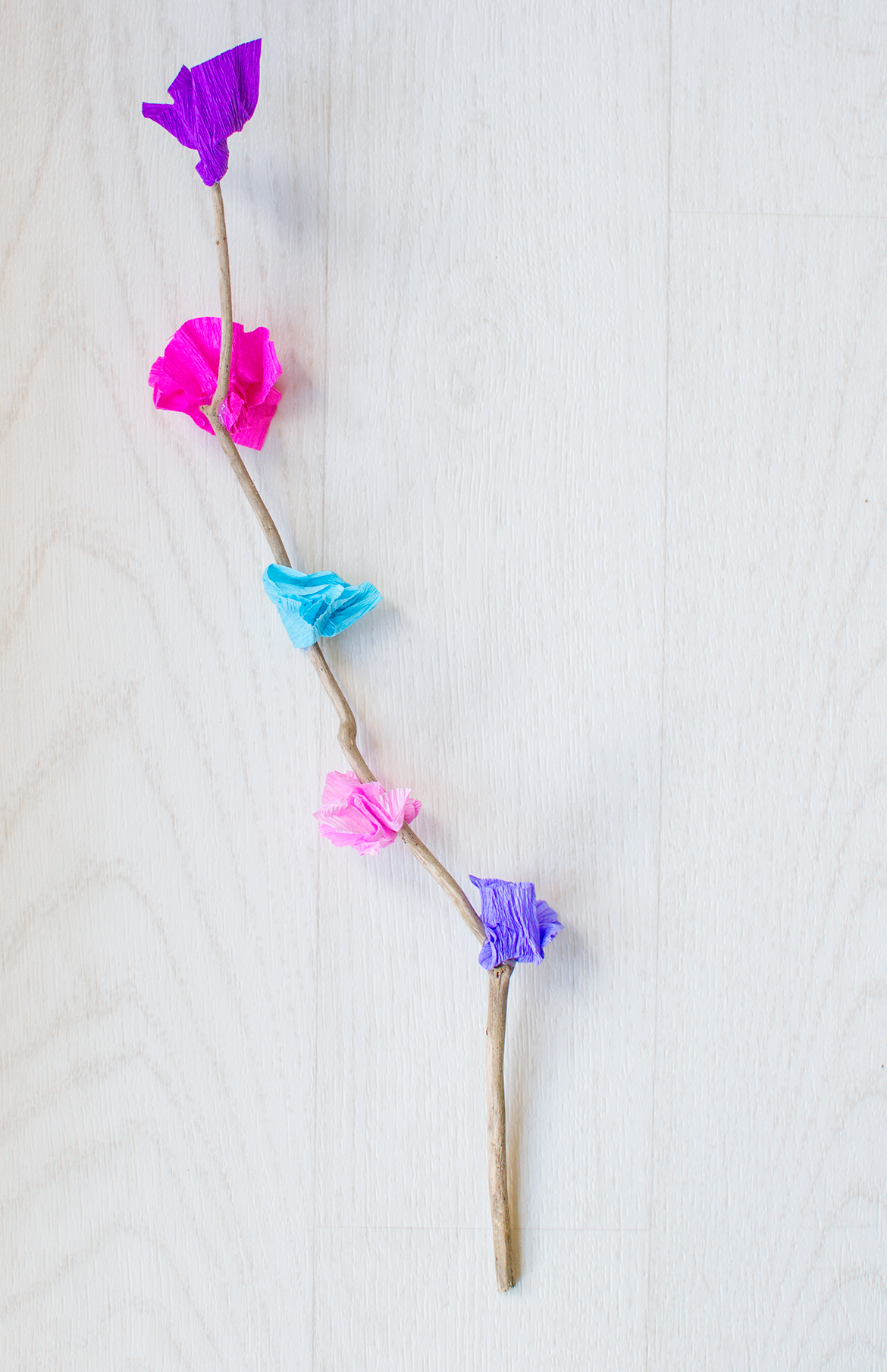 Crepe Paper Stick Flowers Lets Do Something Crafty