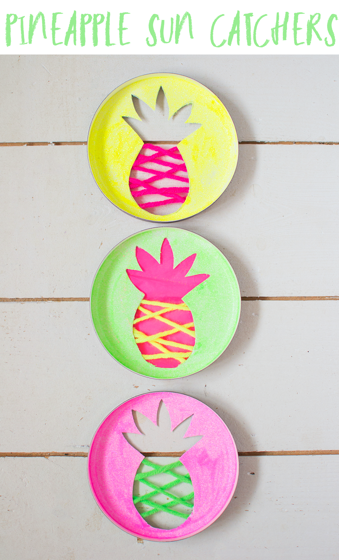 pineapple sun catchers